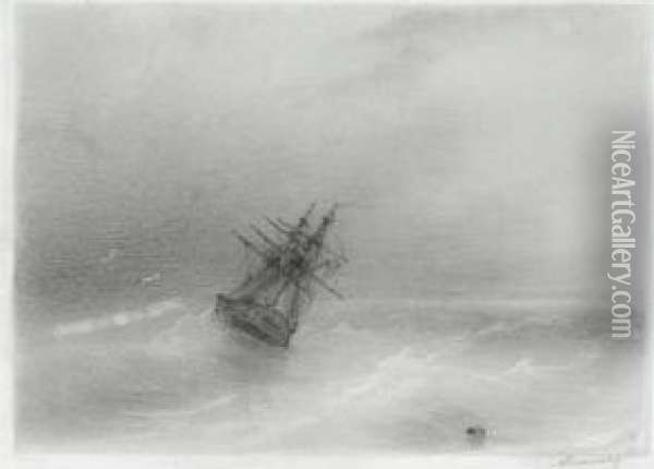 High Seas Oil Painting - Ivan Konstantinovich Aivazovsky