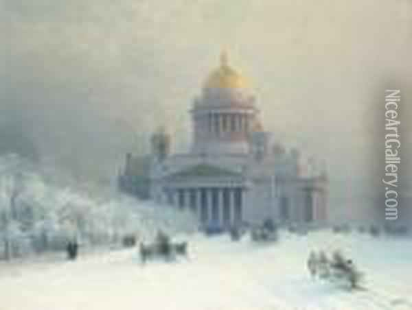 St. Isaac's On A Frosty Day Oil Painting - Ivan Konstantinovich Aivazovsky