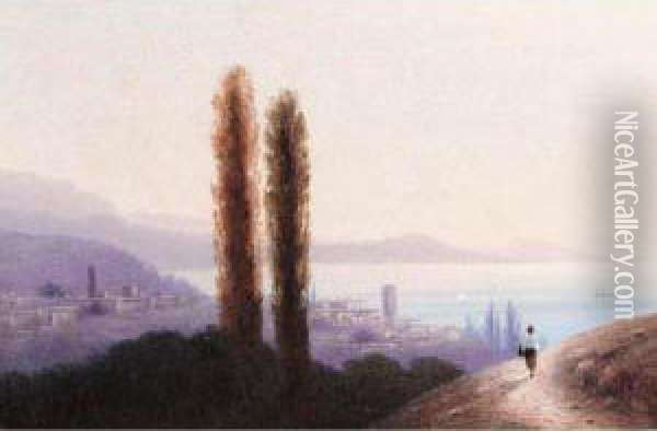 View Of The Crimea Oil Painting - Ivan Konstantinovich Aivazovsky