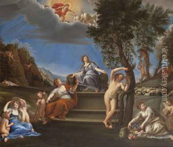 The Earthly Realm Oil Painting - Francesco Albani