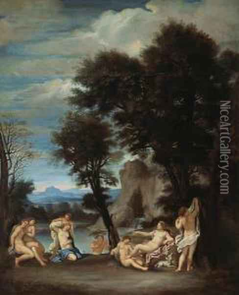 Diana And Callisto Oil Painting - Francesco Albani