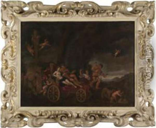 Bacchus And Ariadne Oil Painting - Francesco Albani
