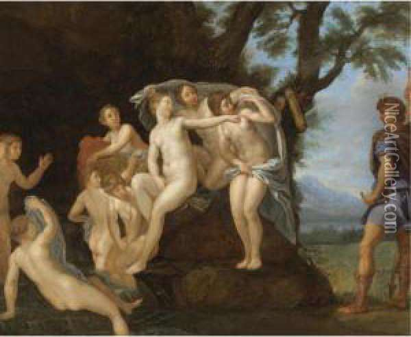 Diana And Actaeon Oil Painting - Francesco Albani