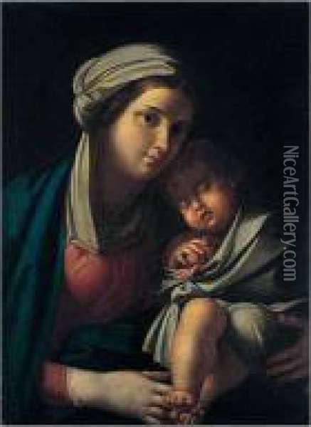 The Madonna And Child Oil Painting - Francesco Albani