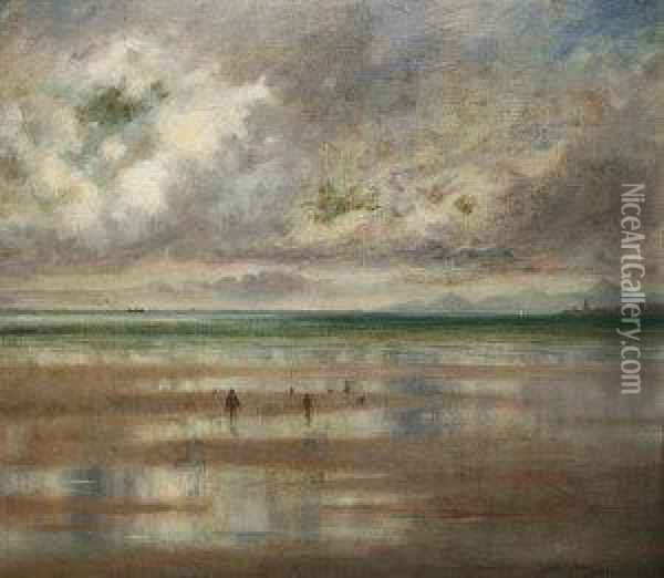 On Dollymount Strand, Co Dublin Oil Painting - Douglas Alexander