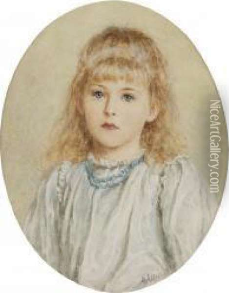 Portrait Of A Young Girl Oil Painting - Helen Mary Elizabeth Allingham