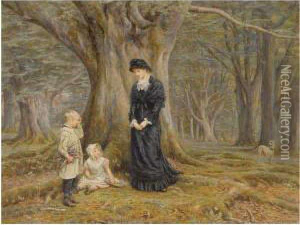 The Lady Of The Manor Oil Painting - Helen Mary Elizabeth Allingham