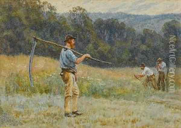The Reapers Oil Painting - Helen Mary Elizabeth Allingham