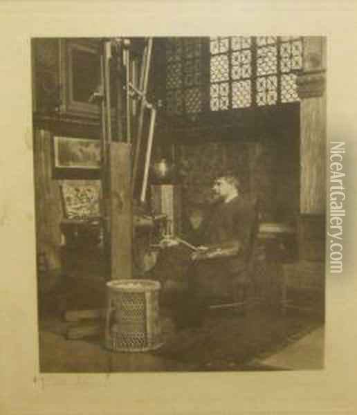 The Artist In Hisstudio Oil Painting - Sir Lawrence Alma-Tadema