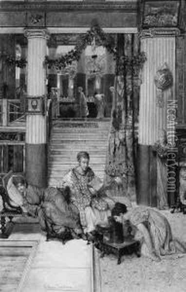 The Convalescent Oil Painting - Sir Lawrence Alma-Tadema