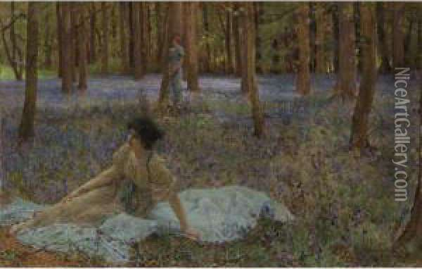 Bluebells Oil Painting - Sir Lawrence Alma-Tadema