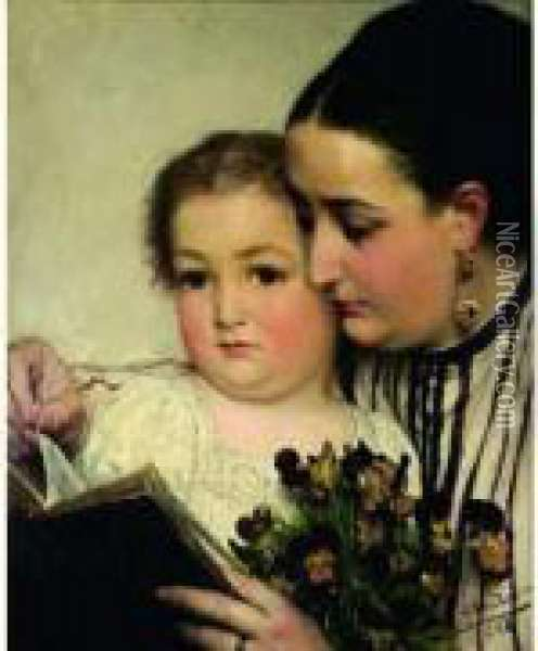 La Lecture Oil Painting - Sir Lawrence Alma-Tadema
