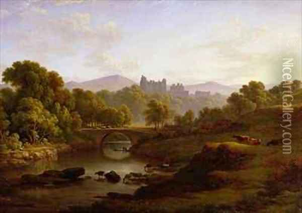 Doune Castle Perthshire Oil Painting - John Glover