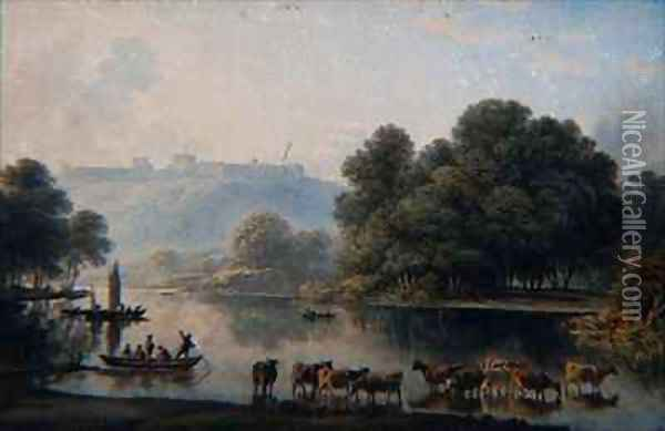 A View of Windsor Castle from the Thames Oil Painting - John Glover