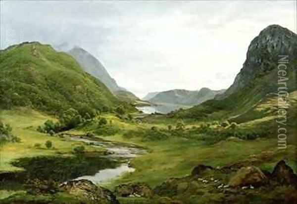 Thirlmere Oil Painting - John Glover