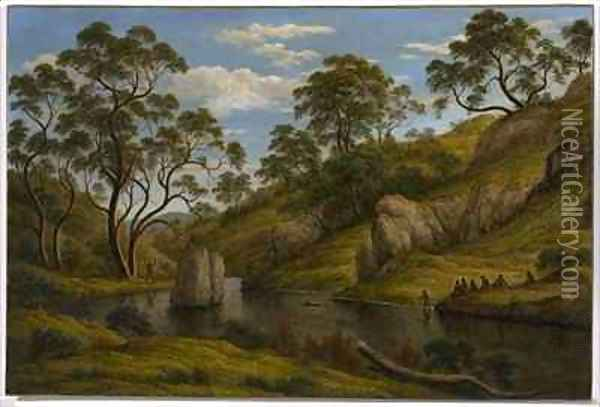 The Bath of Diana Van Diemens Land Oil Painting - John Glover