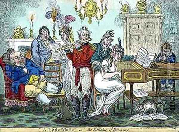 A Little Music or the Delights of Harmony Oil Painting - James Gillray