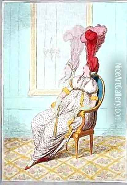 A Portrait of Modern Elegance Oil Painting - James Gillray