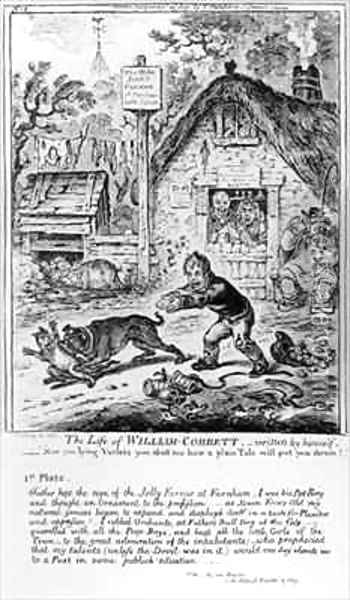Plate 1 from The Life of William Cobbett Oil Painting - James Gillray