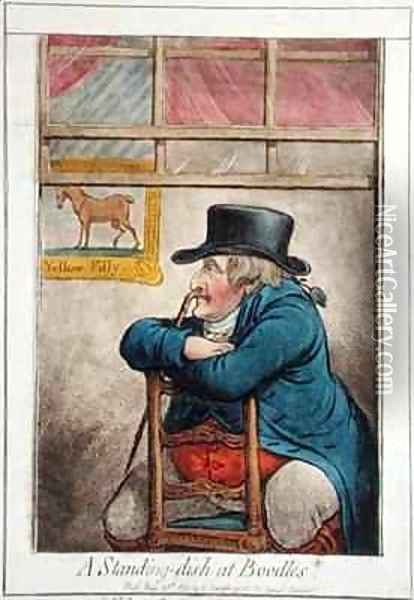 A Standing Dish at Boodles vide a d d good Cocoa Tree Pun Oil Painting - James Gillray