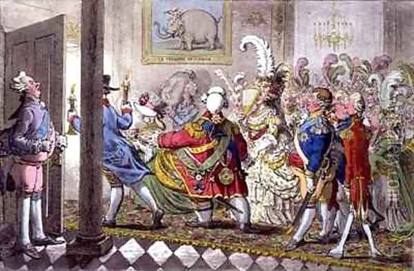The Bridal Night Oil Painting - James Gillray