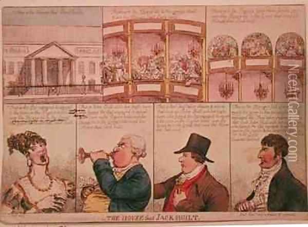 The House that Jack Built 2 Oil Painting - James Gillray