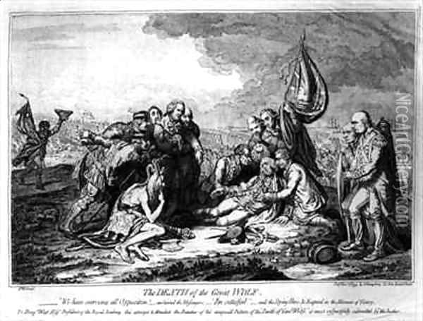 The Death of the Great Wolfe Oil Painting - James Gillray