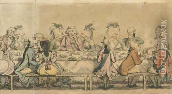 The Installation Supper, as given at the Pantheon Oil Painting - James Gillray