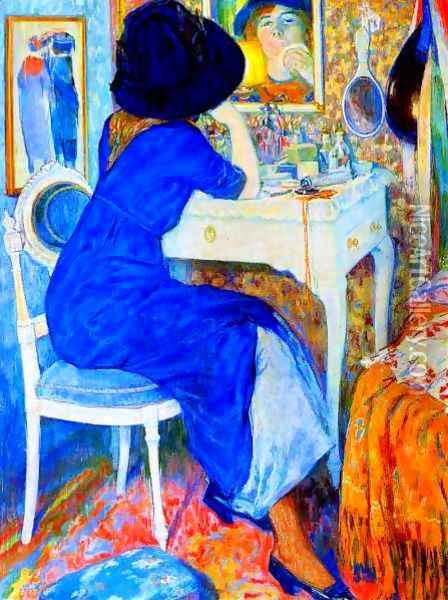 Woman at Makeup Table Oil Painting - Leo Gestel
