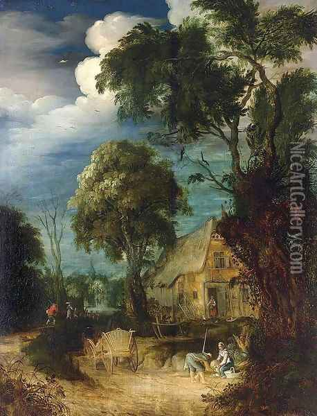 Wooded Landscape 2 Oil Painting - Abraham Govaerts