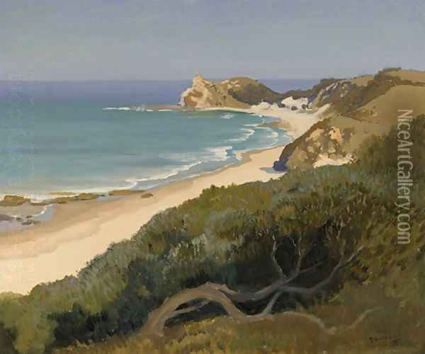 Shelley Beach, New South Wales Oil Painting - Elioth Gruner