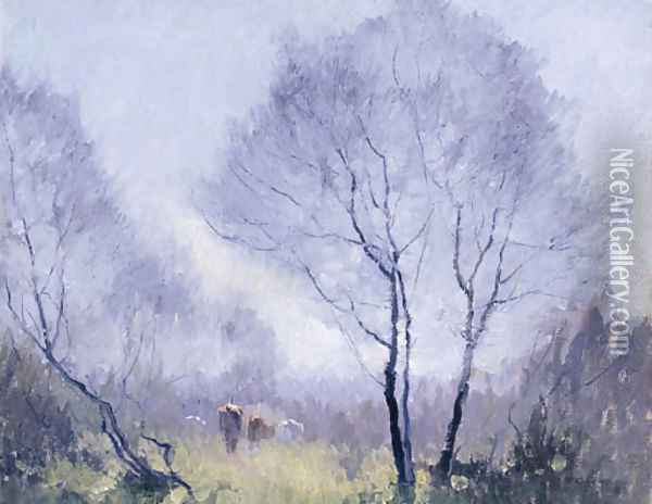 Frosty Morn Oil Painting - Elioth Gruner