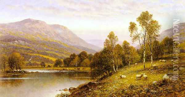 Early Evening, Cumbria Oil Painting - Alfred Glendening