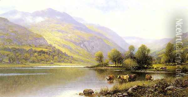Near Capel Curig, North Wales Oil Painting - Alfred Glendening