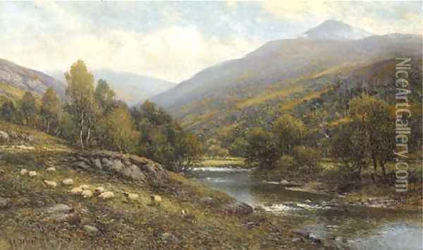 Moel Siabod, near Capel Curig, North Wales Oil Painting - Alfred Glendening