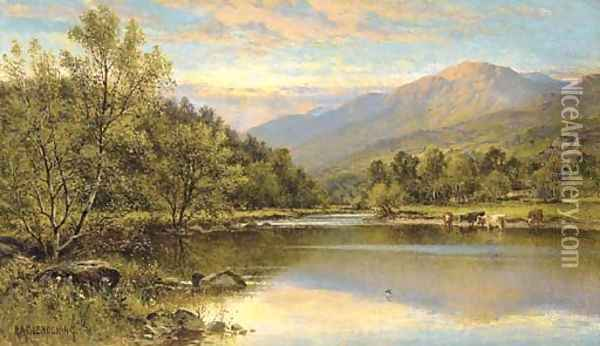 Capel Curig, North Wales Oil Painting - Alfred Glendening