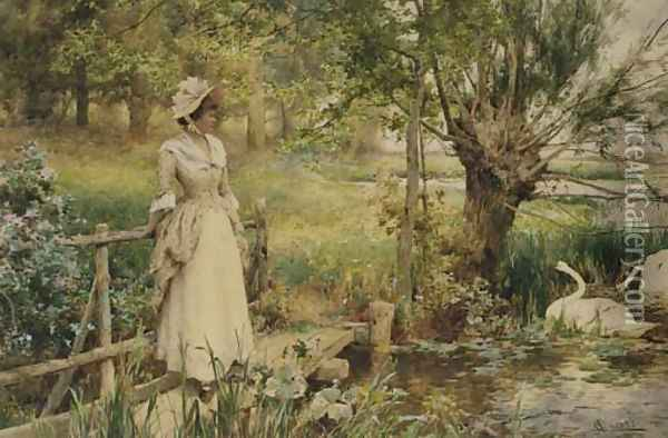 In the height of the summer Oil Painting - Alfred Glendening