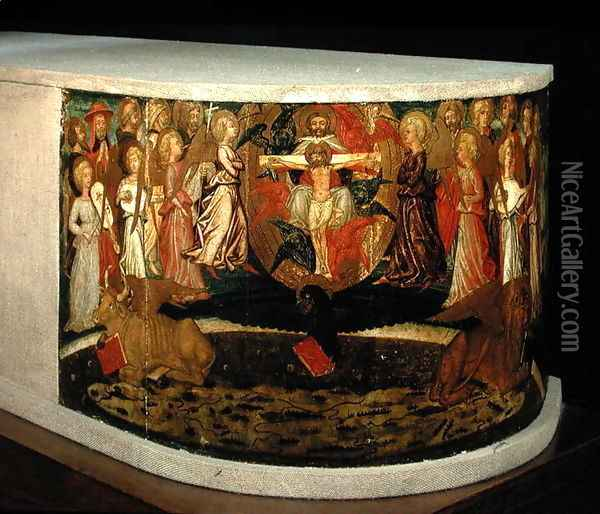 Triumph of Eternity, inspired by Triumphs by Petrarch 1304-74 Oil Painting - Giovanni di ser Giovanni Guidi (see Scheggia)