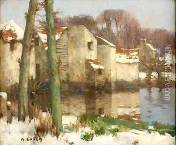 Winter in Normandy 2 Oil Painting - David Gauld