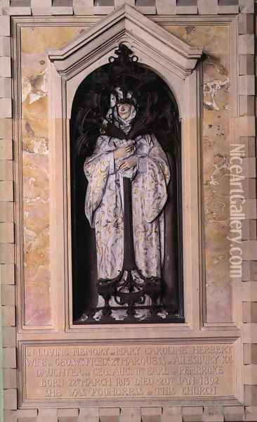 Memorial to Mary Caroline Herbert, Marchioness of Ailesbury Oil Painting - Alfred Gilbert