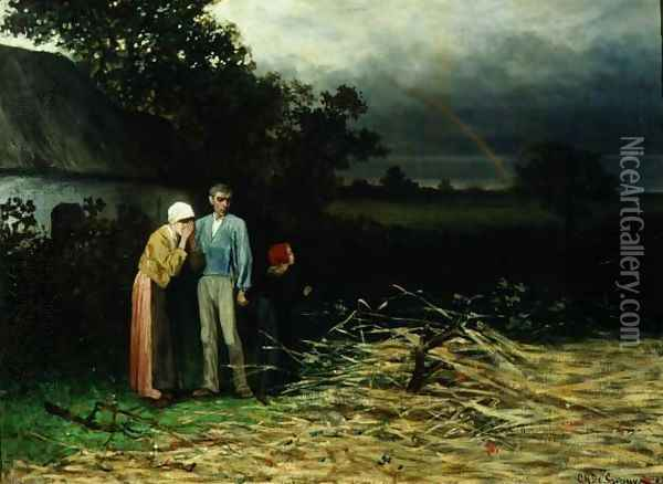 The Lost Harvest Oil Painting - Charles de Groux