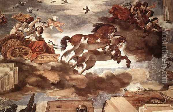 Aurora Oil Painting - Guercino