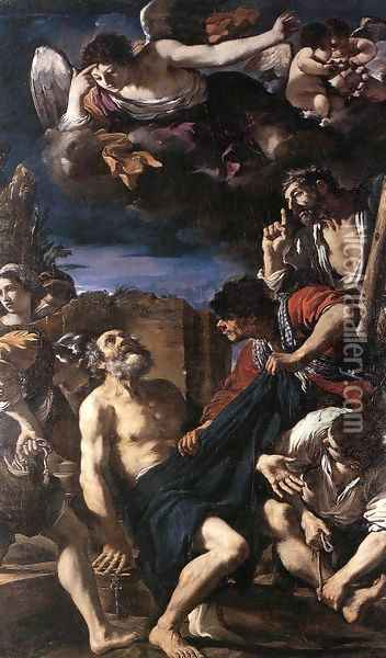 The Martyrdom of St Peter Oil Painting - Guercino