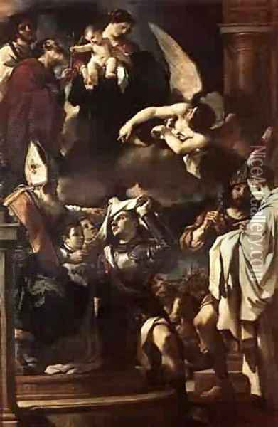 St William Of Aquitaine Receiving The Cowl 1620 Oil Painting - Guercino