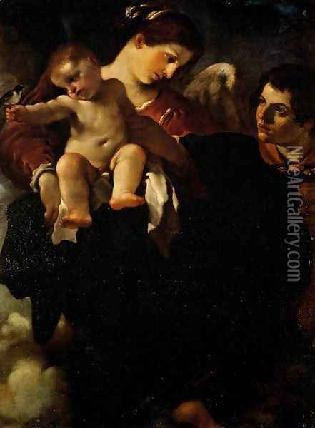 Madonna of the Swallow Oil Painting - Guercino