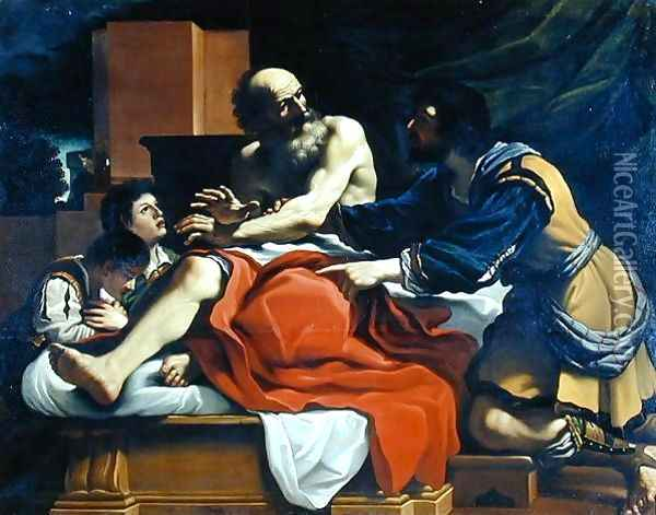 Jacob Ephraim and Manasseh Oil Painting - Guercino