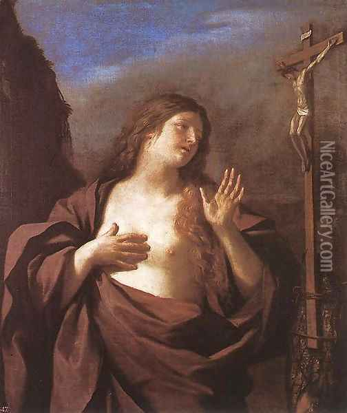Mary Magdalene in Penitence Oil Painting - Guercino
