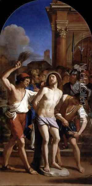 The Flagellation of Christ Oil Painting - Guercino