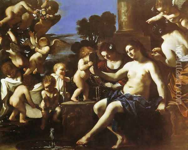 The Toilet of Venus Oil Painting - Guercino