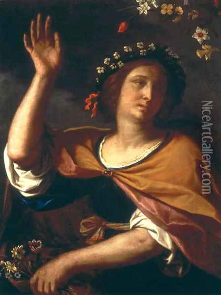 Allegory of Spring Oil Painting - Guercino